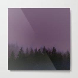 Alaska Fog 0388, EggPlant Metal Print