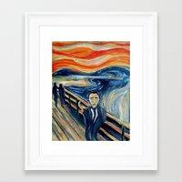 camus Framed Art Prints featuring Albert Camus by Renee Bolinger