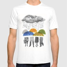 cloudy days for uppercase mag White Mens Fitted Tee MEDIUM