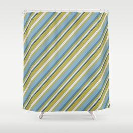Beach Stripes Shower Curtain