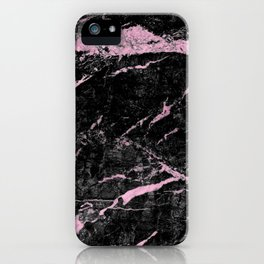 Marble Black Pink - Far Away iPhone Case