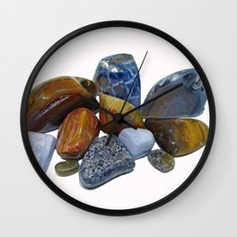 Polished Rocks Wall Clock