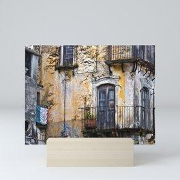 Urban Sicilian Facade Mini Art Print