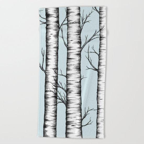 Wonderland - Blue Beach Towel