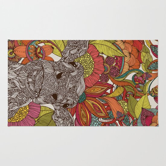 Arabella and the flowers Rug