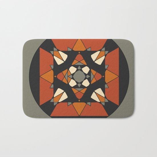Mandala earth colors Bath Mat