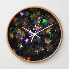 Starry Starry Night Neon (1) Wall Clock