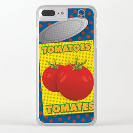 Pop art: canned tomatoes Clear iPhone Case