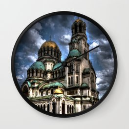 Alexander Nevski Cathedral , Sofia , Bulgaria- HDR photo Wall Clock