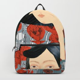 Girl on poppies Backpack