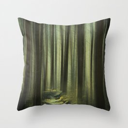 Forest and Sunlight II Throw Pillow