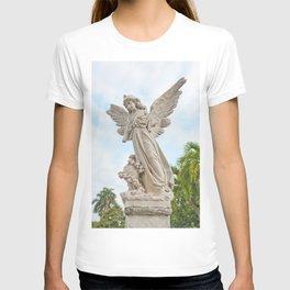 Necropolis Graveyard Statue Broken Angel Marble Cuba Island Carving Art Icon Christian Saint Holy Go T-shirt