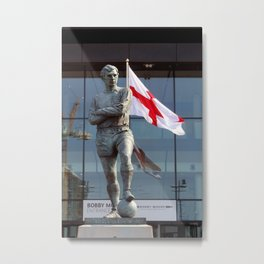 Bobby Moore Statue England Flag Wembley Stadium Metal Print