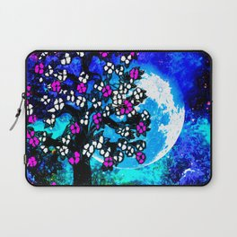 A TREE A MOON AND STARS AT NIGHT Laptop Sleeve