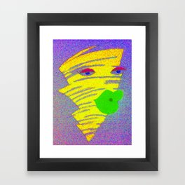 Ms. Tornado Framed Art Print