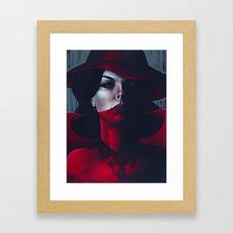 Miss Scarlet Framed Art Print