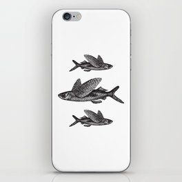 Flying Fish | Black and White iPhone Skin