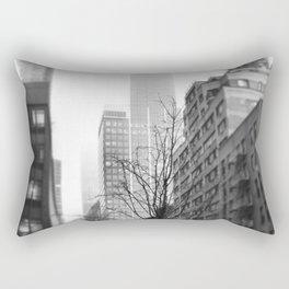 NYC in Fog Rectangular Pillow