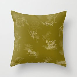 Zoology: Olive Throw Pillow
