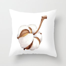 Cotton Flower 01 Throw Pillow