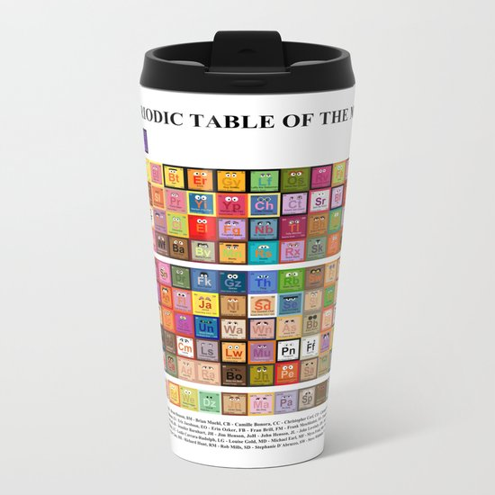 The Periodic Table of the Muppets Metal Travel Mug