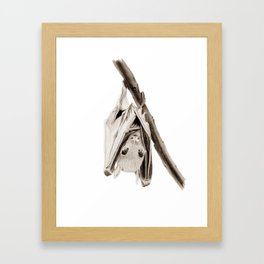 Tiny Fruit Bat Framed Art Print