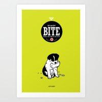 BITE:I love ham Art Print