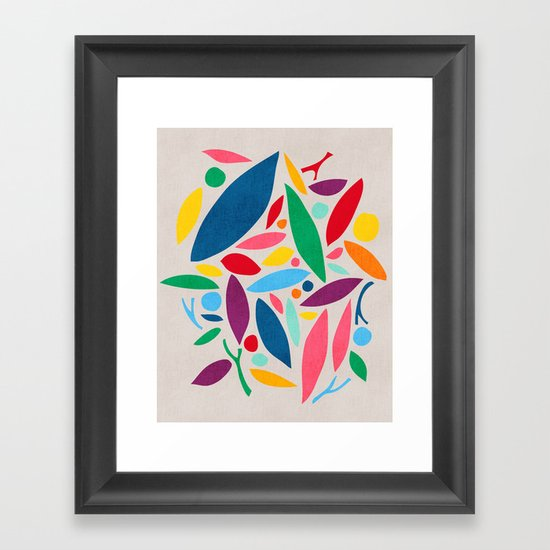 Found Objects Framed Art Print