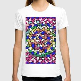 Wobbly Vibrant Tiles T-shirt