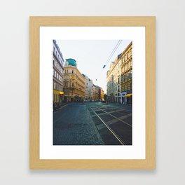 Vienna Street Framed Art Print