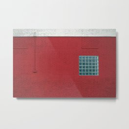 Red & White Bricks (abstract composition) Metal Print