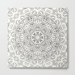 Drawing Floral Doodle G2 Metal Print