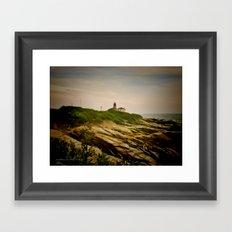 Beavertail Lighthouse on Conanicut Island Framed Art Print