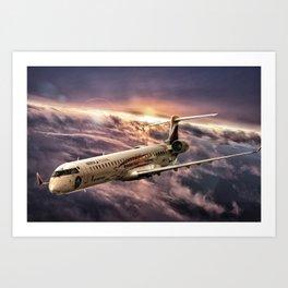 Aviación Sin Fronteras - Air Nostrum Art Print