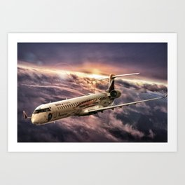 Aviación Sin Fronteras - Air Nostrum Art Print