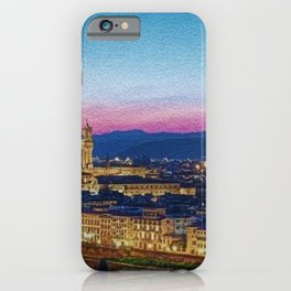 Twilight - Arno River, Florence Italy Landscape by Jeanpaul Ferro iPhone Case