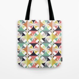 Layered Detailed Geometric Pattern - Multicolored Tote Bag