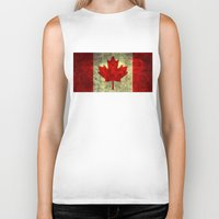 canada Biker Tanks featuring Oh Canada! by Bruce Stanfield