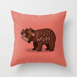 Beast Mode RED Throw Pillow