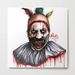 TWISTY THE CLOWN Metal Print