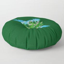 Watercolor Silhouette Neverland Floor Pillow