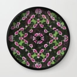 Rosas Moradas 2 Kaleidoscope 13 Wall Clock