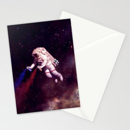 """Shooting Stars"" - Astronaut Artist Stationery Cards"