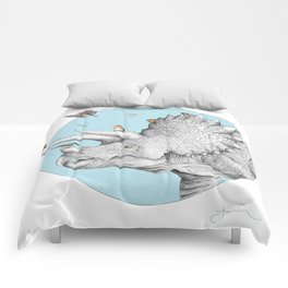 Triceratops and Birdies Comforters