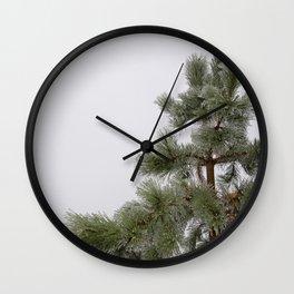 Iced Evergreen by Teresa Thompson Wall Clock