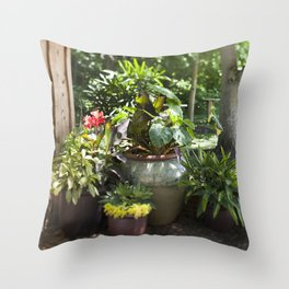 Container Gardening Done Right Throw Pillow
