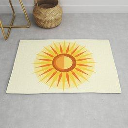 Abstract Sun 2 warm Rug