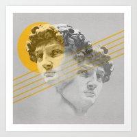 david olenick Art Prints featuring David by Miles Brazitis