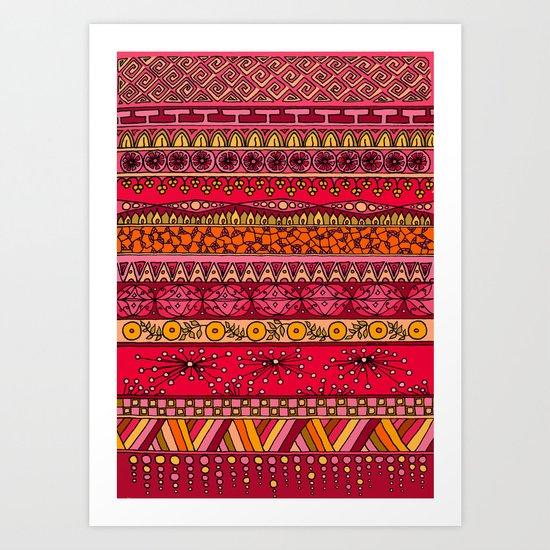 Yzor pattern 013 Summer Sunset Art Print