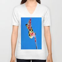 maryland V-neck T-shirts featuring Maryland Pride by Kelsey Hunt